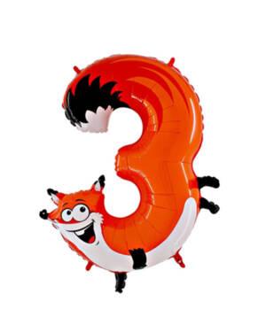 "Folieballong / Tallballong: ""3"" - Rev"