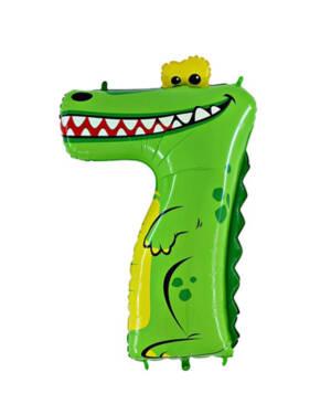 "Folieballong / Tallballong: ""7"" - Krokodille"