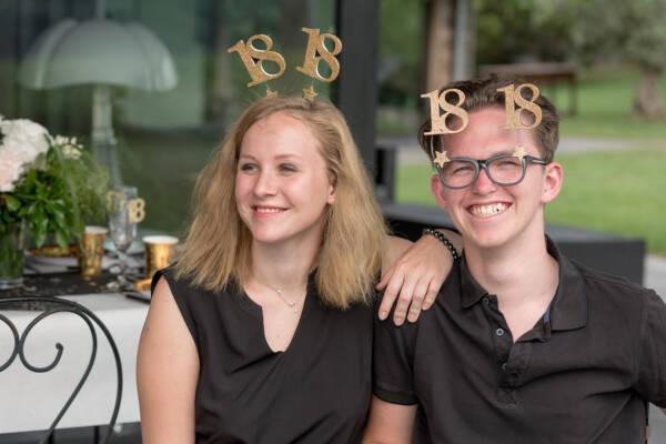 Briller med tall: Glitter Gull