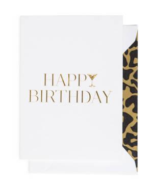 Kort: Happy Birthday Cocktail - A6