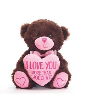 "Bamse: Bjørn - ""I Love You More than Chocolate"" - 25cm"