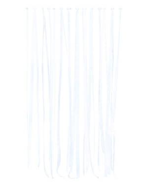 Backdrop / Tassel: Hvit Silkebånd -  80m