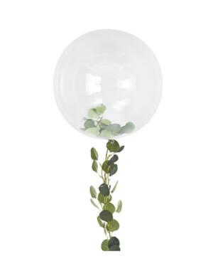 Orbz: Gjennomsiktig med grønn blader & tassels - 90cm