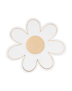 Servietter (16stk): Formet som en blomst - 16 x 16cm