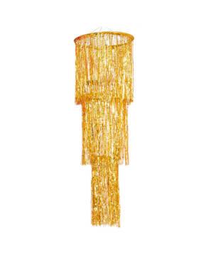 Henge dekorasjon: Lysekrone - Frynsete Gull  - 1,3m
