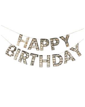 "Banner / Girlander: ""Happy Birthday"" - Gull - 3m"