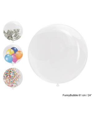 Bubbleballong: Gjennomsiktig - 62cm