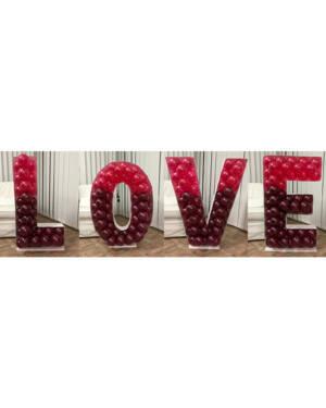 Mosaikkramme til ballonger: Ulike bokstavaer - 120cm