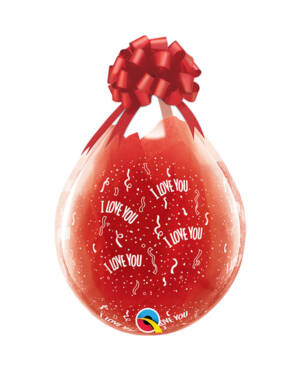 "Gave i Ballong (25stk):  ""I Love You"" - 46cm"