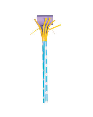 Fløyter (6stk): Lange Pastelfarget med frynser