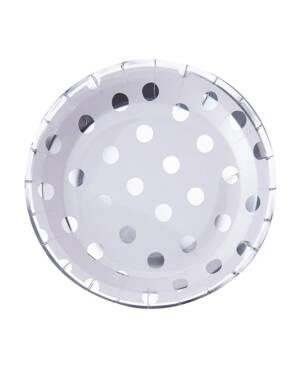 Tallerkener (8stk): Sølvprikker - 23cm