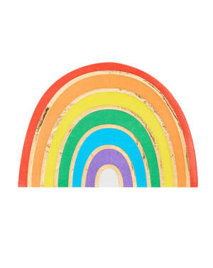 Servietter (16stk): Regnbue - 16,5 x 11,5cm