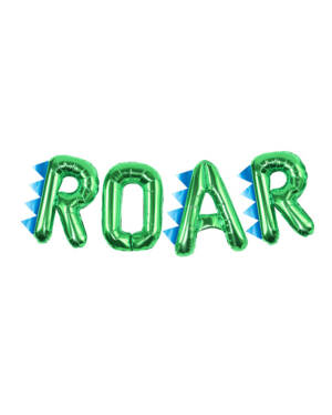 """Folieballong / Ballongbanner: Dinosaur tema - """"Roar"""" - Gull"""