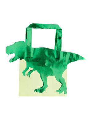 Gavepose / Godtepose (5stk): Dinosaurer - 22 x 19cm