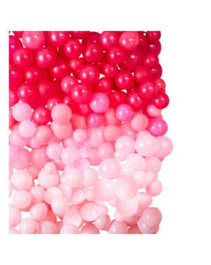 Ballongvegg Kit: 210 ballonger - 2 x 2meter