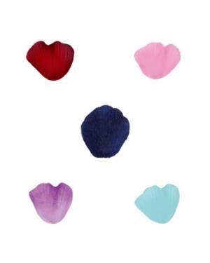 Konfetti (100stk): Roseblader - Flere farger