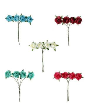 Roser (4stk): Flere farger