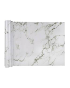Bordløper: Hvit Marmor - 3m x 28cm