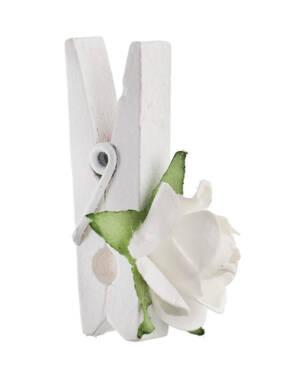 Merke (6stk): Rose med klype - 2,5 x 3,5cm