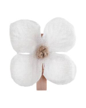 Merke (6stk): Orkide med klype - 2,5 x 3,5cm