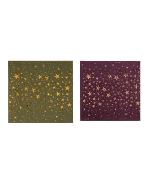 Servietter (20stk): Stjerner - 12,5cm