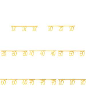 Girlander / Banner: Gull - 250cm