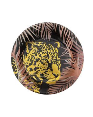 Tallerkener (10stk): Jungel - Gepard - 22,5cm