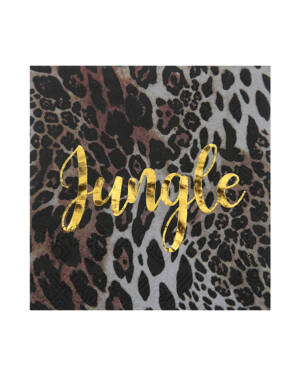 "Servietter (20stk): ""Jungle"" Leopardmønster - 12,5cm"