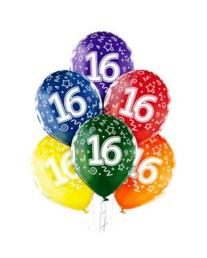 "Ballongbukett: Tall Regnbue - ""16"""