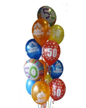 Ballongbukett: So Happy 50!