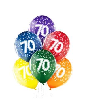 "Ballongbukett: Tall Regnbue - ""70"""