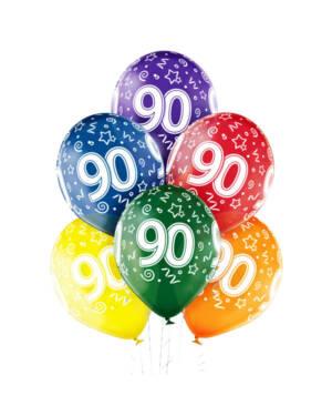 "Ballongbukett: Tall Regnbue - ""90"""