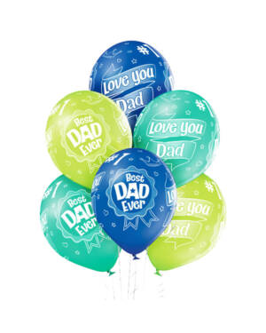 "Ballongbukett: ""Best Dad Ever"" Fargerik"
