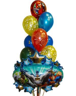 Ballongbukett: Justice League & Spiderman