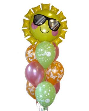 """Ballongbukett: """"Get Well"""" - Fun in The Sun"""
