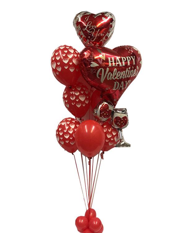 """Ballongbukett: """"Happy Valentine's Day"""" - Cheers"""