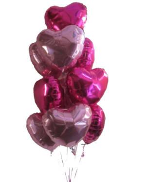 Ballongbukett: I Love you a Dozen - Baby Pink & Magenta