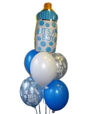 Ballongbukett: Tåteflaske - It's a Boy