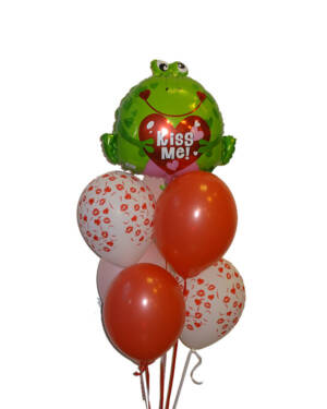Ballongbukett: Kiss the Frog