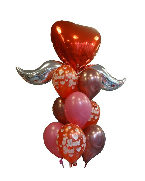 Ballongbukett: Love Angel