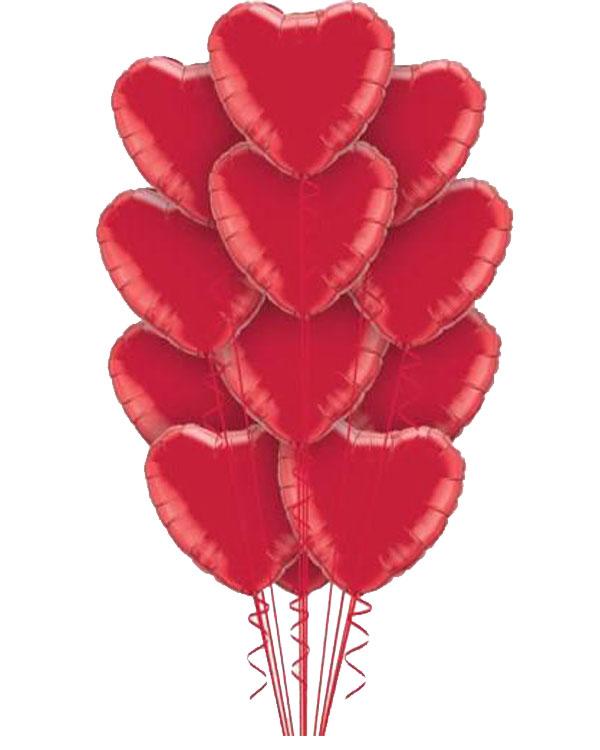 Ballongbukett: I Love you a Dozen - Red
