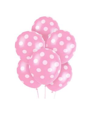 Ballongbukett: Polka Dots - Pink