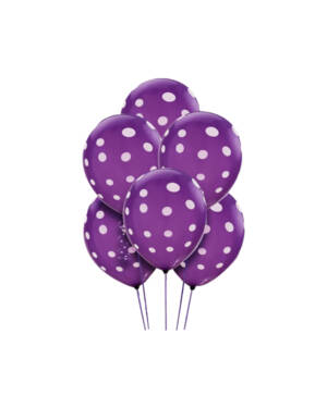 Ballongbukett: Polka Dots - Purple