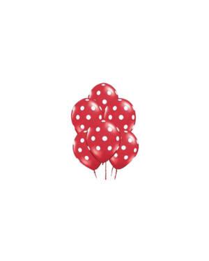 Ballongbukett: Polka Dots - Red