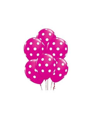 Ballongbukett: Polka Dots - Rose