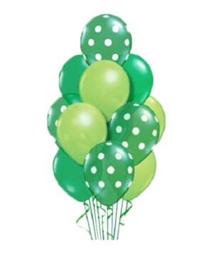 Ballongbukett: St. Patricks Polka Dots