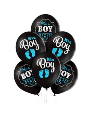 Ballongbukett: It's a Boy - Black