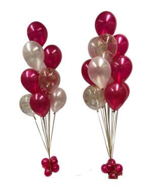 Ballongbukett: Pearl Magenta & Confetti