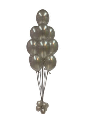 Ballongbukett: Simply Silver Metallic