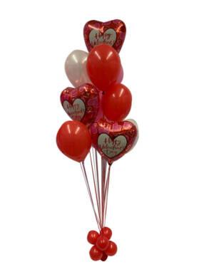 Ballongbukett: Triple Valentine Hearts